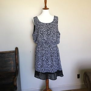 Delirious Patterned Sleeveless Dress 1X